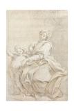 The Virgin and Child Near a Basin; Le Vierge Et L'Enfant Pres D'Une Vasque