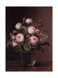 Roses in a Glass Vase  1842