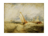 Van Tromp Going About to Please His Masters - Ships a Sea Getting a Good Wetting  1844