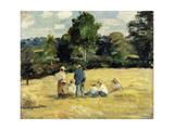 The Harvesters Rest  Montfoucault; Le Repos Des Moissoneurs  Monfoucault  1875