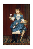 Daisy Mccomb Holding a Pink Rose  1888