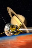 Cassini-Huygens Probe At Titan  Artwork