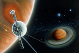 Illustration Symbolising Voyager 2's Journey