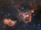 Emission Nebulae IC 1848 And IC 1805
