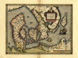 Ortelius's Map of Denmark  1570