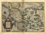 Ortelius's Map of Greece  1570