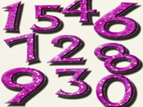 Computer Artwork of Numbers 0-9 Used In Numerology