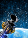 Space Station Orbiting Earth  Artwork