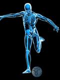 Skeleton Playing Football