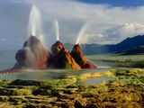 Fly Geyser In the Black Rock Desert  Nevada  USA