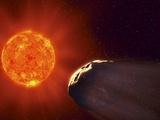 Vulcanoid Asteroid And Sun  Artwork