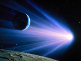 Artwork of a Comet Passing Earth