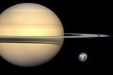 Saturn And Earth  Artwork