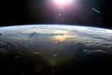 Pacific Ocean From Space  ISS Image