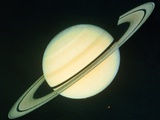 Voyager 1 Photo of Saturn & Its Rings