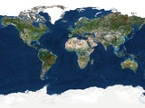 Whole Earth  Satellite Image