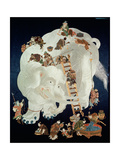 Chinese Washing a White Elephant  Gift Cover  1800-50