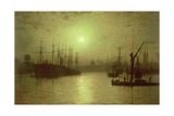 Nightfall Down the Thames  1880