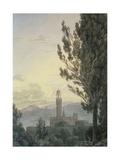 The Palazzo Vecchio from the Boboli Gardens  Florence