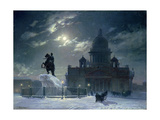 View of the Monument to Peter the Great in Senate Square  St Petersburg  1870