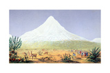 T1607 Chimborazo  from 'Views of Nature'  Pub C1850
