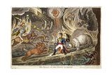 'The Valley of the Shadow of Death' by James Gillray  1808