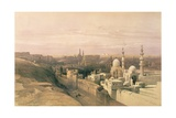 """Cairo  Looking West  Book Illustration from """"Sketches in Nubia""""  1846-49"""