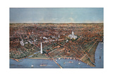 The City of Washington  Bird's Eye View from the Potomac Looking North  1892
