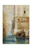 The Gondola  Venice  with Santa Maria Della Salute in the Distance  1865