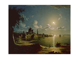 Moonlight Scene  Southampton  1820