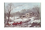 American Winter Evening Scene