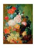 Still Life with Fruit  Flowers and Bird's Nest