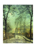 A Moonlit Road  19th Century