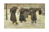 Miners' Wives Carrying Sacks of Coal  1882