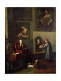 Self Portrait of the Artist Painting Sir Walter Scott (1771-1832)