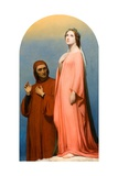 The Vision: Dante and Beatrice  1846