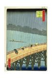 'Sudden Shower at Ohashi Bridge at Ataka'  ('Ohashi  Atake No Yudachi') from the Series '100…