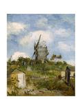 Le Moulin De Blute-Fin  Montmartre  1886