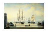 The 'William Lee' at the Mouth of the Humber Dock  Hull  or the Return of the 'William Lee'  1839