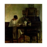 Girl Reading in an Interior