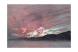 Stormy Sunset from Brantwood  Ruskin's Home in Cumbria