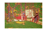 Painting Lazarine and Anella in the Park it's Hot  1910