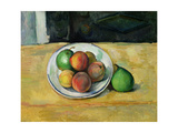 Still Life with a Peach and Two Green Pears  C 1883-87