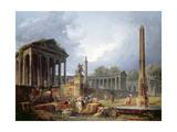 Architectural Capriccio with Obelisk  1768