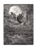A Voyage to the Moon  from 'The Adventures of Baron Munchausen' by Rudolph Erich Raspe  Engraved…