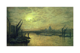 The Thames by Moonlight with Southwark Bridge  1884