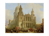 St Paul's Cathedral with the Lord Mayor's Procession  1836