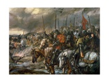 Morning of the Battle of Agincourt  25th October 1415  1884