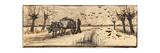 Ox-Cart in the Snow  from a Series of Four Drawings Representing the Four Seasons