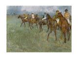 Jockeys in the Rain  C1886